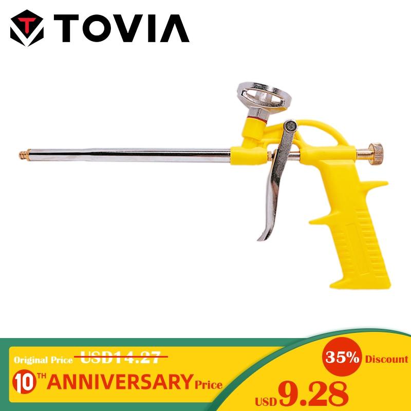 TOVIA Foam Expanding Spray Gun Sealant Dispensing PU Insulating Applicator Tool Spray Foam Gun Caulking Gun Construction Tool