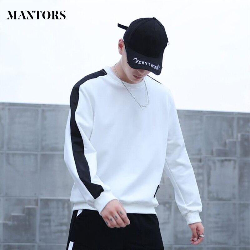 Свитшот мужской в стиле хип-хоп, модная брендовая кофта в стиле пэчворк, с круглым вырезом и длинным рукавом, Повседневная Толстовка свободн...