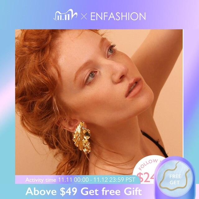 Enfashion Goud Laat Oorbellen Voor Vrouwen Goud Kleur Leaf Drop Oorbellen Oorbellen For A Vrouwen Oorbellen Mode sieraden EC181044