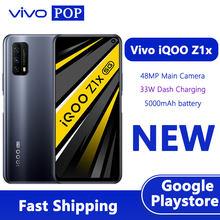 Vivo iqoo z1x 5g telefone de jogos 6.57 polegada 6gb 128gb snapdragon 765 octa núcleo impressão digital desbloquear multi-turbo 3.0 telefone móvel