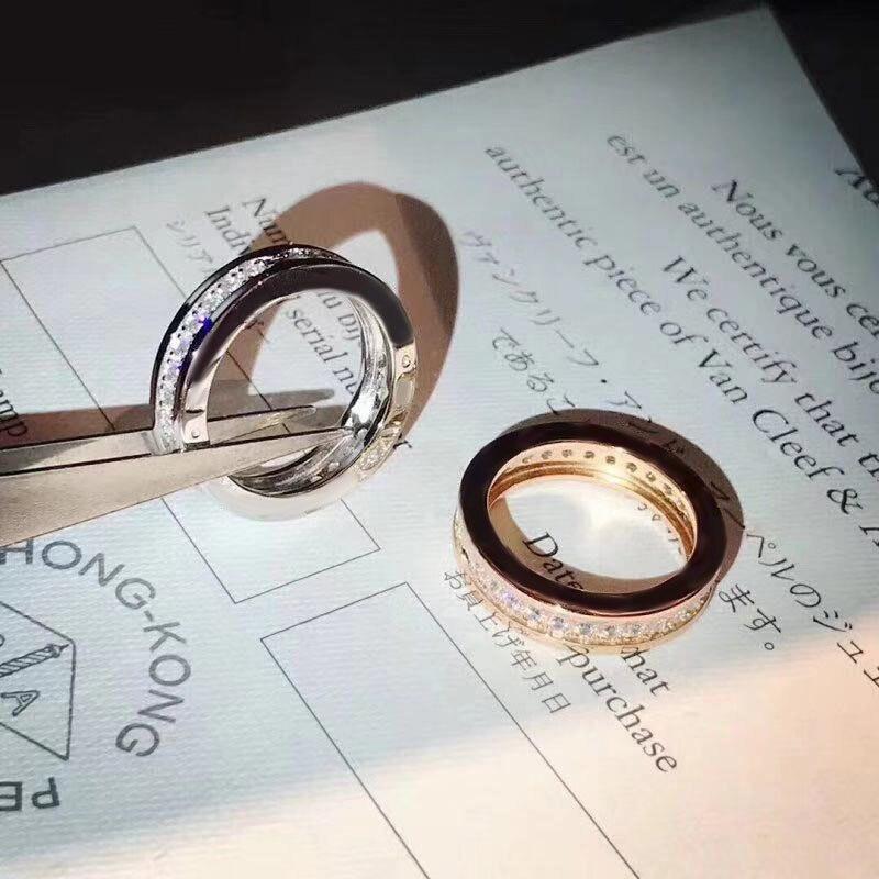 Оригинальное дизайнерское кольцо брендовые Свадебные украшения для женщин, кольцо, кольцо из нержавеющей стали Свадебные вечерние праздни...