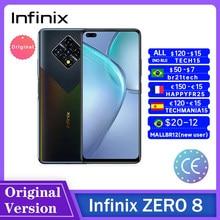 Infinix ZERO 8 smartfony 6.85 Cal 8GB RAM 128GB 64MP tylna kamera Quad Helio G90T 33W Super ładowanie Android мобилный телефон