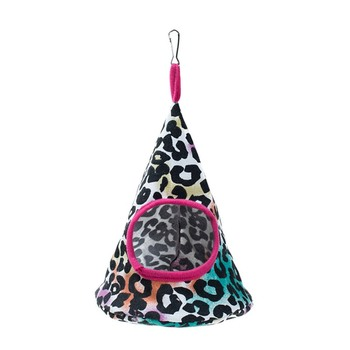 New 5 Colors Pet Cone Basket Birdhouse Hammock Plush Bird Toys Parrot Hammock Warm Hammock Pet Cave Cage Tent Toy House 4