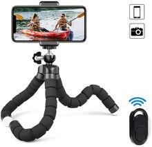 3 adet kablosuz sünger Tripod Selfie seti mobil için taşınabilir evrensel Bluetooth Selfie kamera canlı yayın üçgen braketi