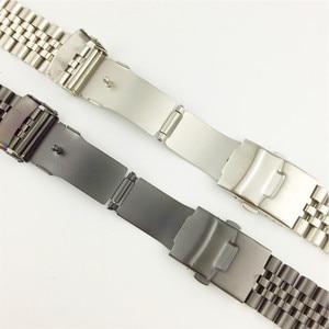 Image 4 - משי מבריק נירוסטה רצועת השעון 18mm 20mm 22mm 23mm 24mm 26mm להקת שעון כפול נעילת אבזם החלפת שעון רצועת w כלי