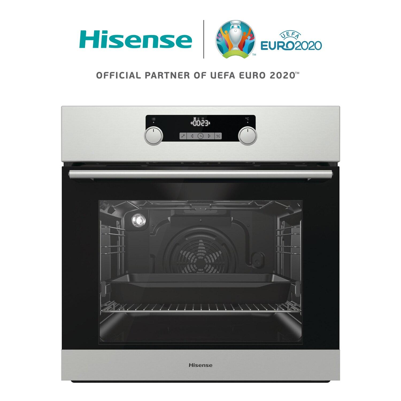 Hisense BI3222AX four encastré, 71L, 59,7 × 59,5 × 54,7 cm, 2700W, multifonctionnel, facile à nettoyer, icône d'affichage LED