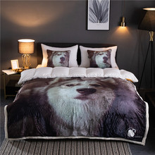 Husky dog  pattern Winter Thick Comfy Blanket Adults and Children Fleece Weighted Blankets for Beds Travel