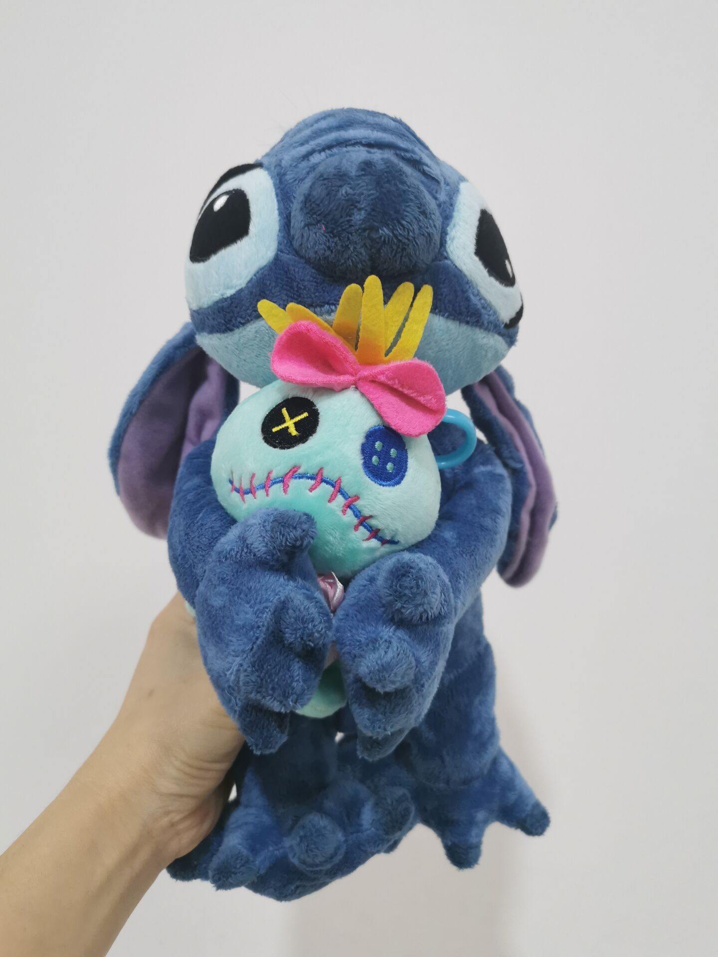 Amazing Blue Lilo and Stitch Hug Scrump Style Plush Boys Collection Toys Cartoon Moive Figure Toy Doll 37cm Brand New
