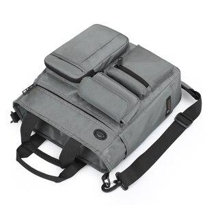 Image 3 - Bolso de mano de alta calidad para hombre, bolsa de hombro masculina de negocios para Ipad de 9,7 pulgadas, bolso de transporte diario urbano, bolso cruzado con muchos bolsillos