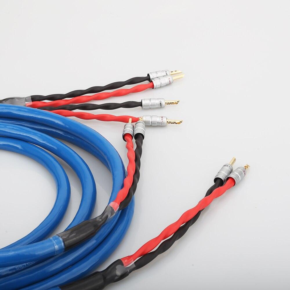 Cable de altavoz chapado en plata y cobre LS-180 con conector Banana chapado en oro CMC cable de altavoz hifi - 3