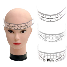 цена на 6 Styles Reusable Eyebrow Ruler Microblading Semi Permanent Calliper Eye Brow Measure Tools Tattoo Guide Ruler Makeup Stencil