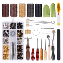 DIY Leather Craft Tools Kit Professional Hand Sewing Stitching Punch Saddle Carving Work Accessories