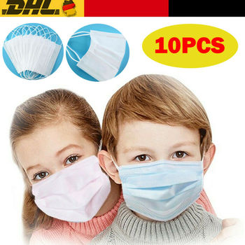10 Pcs Kids Disposable Earloop Flu Face Mask LEVEL 3 Ply Anti-Bacteria Ear Loop Mouth Masks Facial Protective Mask Health Care