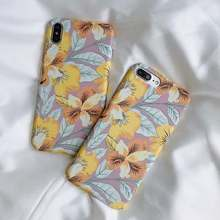 Beyour Yellow flower Floral Phone Case For iphone 8 7 6 6s Plus Capa Cases Fashion hard plastic Cover For iphone XS MAX XR X(China)