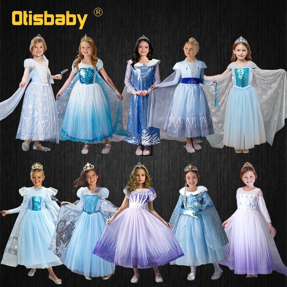 Эксклюзивное Платье Эльзы для девочек, нарядное рождественское платье, вечерние костюмы Эльзы для детей на Хэллоуин, карнавальный костюм принцессы Эльзы и Анны, платье| |   | АлиЭкспресс