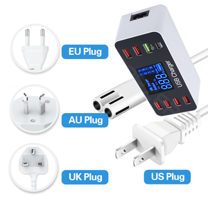 Image 5 - 8 พอร์ต Fast CHARGING USB Charger QC3.0 Quick Charge ประเภท C Smart Charger Station จอแสดงผล LCD ดิจิตอล USB Multi พอร์ตสำหรับโทรศัพท์