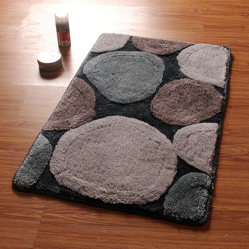 Tapis de bain Design rond, tapis et tapis de salle de bain Non Silp, tapis de porte dans les toilettes, tapis de bain de sol pour salle de bain et toilette