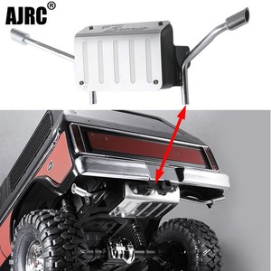 Image 1 - metal Fuel tank and exhaust pipe 1/10 Rc crawler truck Bronco Traxxas Trx4 tail exhaust pipe 82046 4 TRX4 dedicated