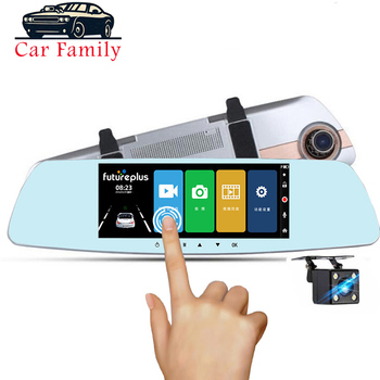 Car Family Full HD 1080P Car Dvr Camera 7 Inch Rearview Mirror Car Dual Lens Registratory Camcorder Night vision Touch screen