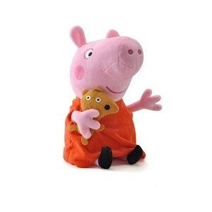 Image 5 - Original 4 Teile/satz Peppa Schwein George Tier Plüsch Spielzeug Familie Rosa Pepa Schwein Puppen Christma Geschenke Spielzeug Für Mädchen kinder