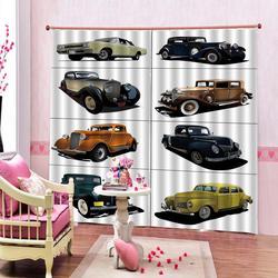Drukowanie kurtyny na zamówienie dowolny rozmiar wysokiej jakości dla kolorowe samochodów zasłony pokój dzienny domu zasłony