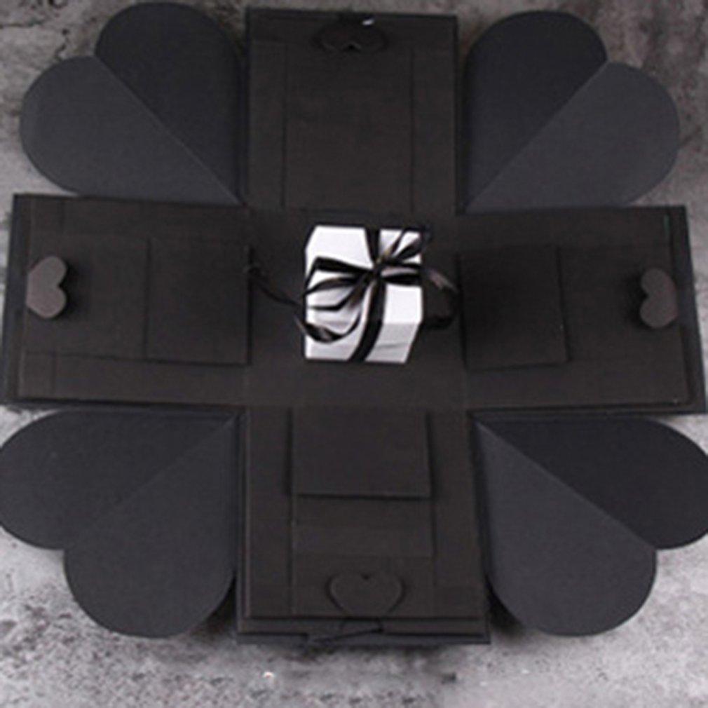 DIY Photo Album Handmade Hexagonal Explosion Gift Box For Family Friends Gift Scrapbook Card Box Travel Organization Holder