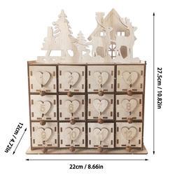 Neue Weihnachten Kalender Schmuck Make-Up Lagerung Box Kreative Holz Box Hause Dekoration Desktop Kalender 2020 Neue Mode