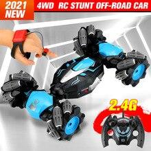RC Auto 1:14 2,4G 4WD Uhr Geste Sensor Control Stunt Kreuz Spray Verformung Twist Geste Sensing Drift Fahrzeug für Kinder