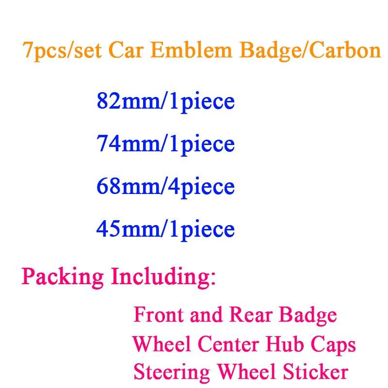 7 шт./компл. 82 мм 74 мм черный, белый цвет капюшон передний задний багажник автомобиля эмблемы значка 68 мм центра колеса Колпаки Ступицы 45 мм ру...