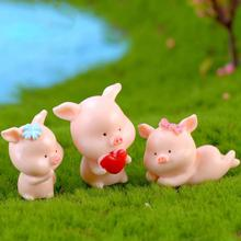 Micro Landscape Year Of The Pig Plastic Crafts Cartoon Piglet Making AN Fortune DIY Fleshy Furniture Home Decorations