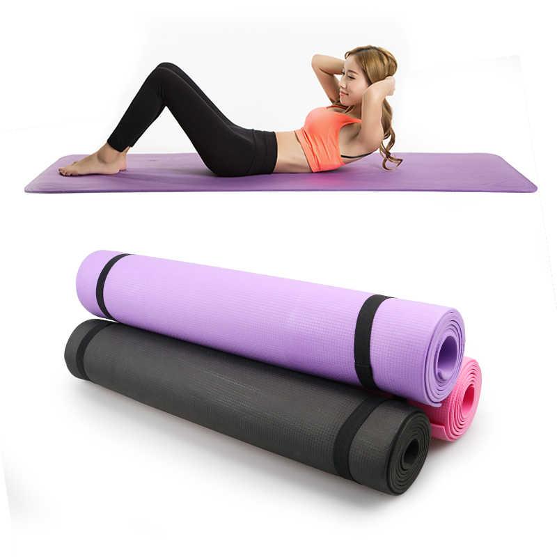 173cm EVA maty do jogi antypoślizgowe koc pcv gimnastyczne Sport zdrowie schudnąć Fitness ćwiczenia Pad kobiety Sport mata do jogi