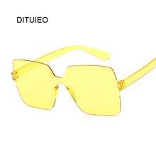 Occhiali da sole moda donna donna rosso giallo moda quadrato occhiali da sole donna tonalità di guida UV400 Oculos De Sol Feminino