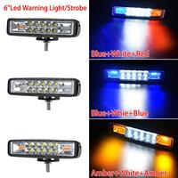 white light car 48W Strobe Flash Work Light LED Light Bar Amber Blue Red White for Offroad 4x4 ATV SUV Motorcycle Truck Trailer car accessories (4)