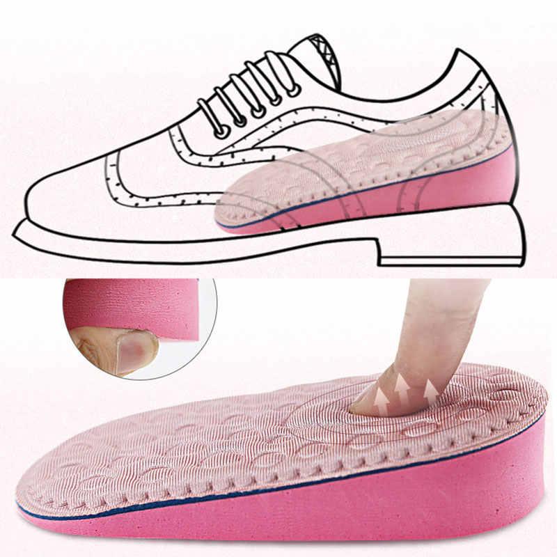 1 paio di scarpe da Donna Tacco Scarpa Solette Intensificare Traspirante Pad Inserto Invisibile Mezza Soletta Scarpe Sportive Scarpe Da Ginnastica di Aumento di Altezza Solette