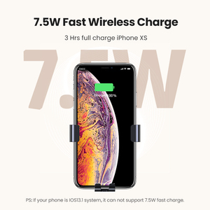 Image 3 - UGREEN Qi Car Wireless Charger for Samsung S9 10 Xiaomi Car Mount Hoder Car Charger Fast Wireless Charging For iPhone 11 XS X 8
