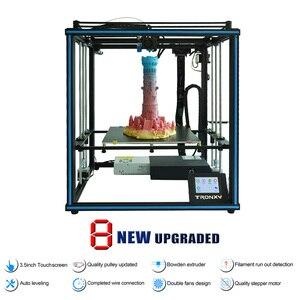 Image 2 - Nouvelle Tronxy X5SA/X5SA 400 imprimante 3D, modèle mis à niveau, haute précision, dimensions Kit de bricolage, 400x400x400mm, reprise dimpression, nivellement automatique