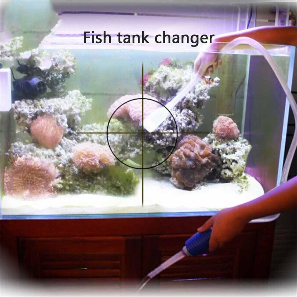 1.8 M Aquarium Handleiding Cleaner Tool Sifon Grind Zuigleiding Filter Fr Fish Tank Vacuum Water Verandering Pomp Gereedschap Unieke