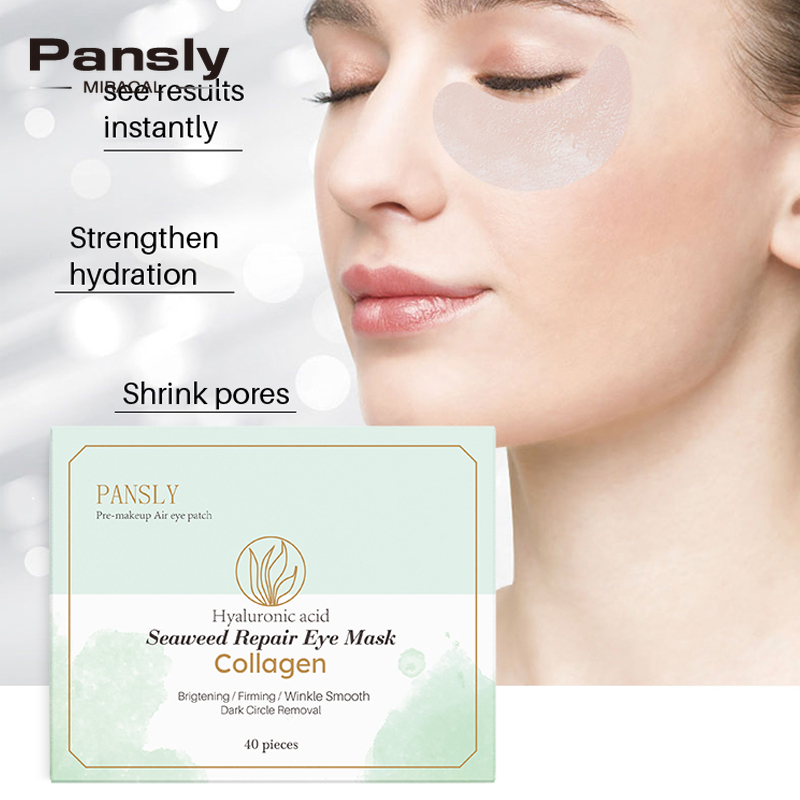 40pcs Seaweed Collagen Eye Mask Anti Wrinkle Moisturizing Hydrating Firming Eye Patch Repair Dark Circle Whiten Sleep Eye Masks