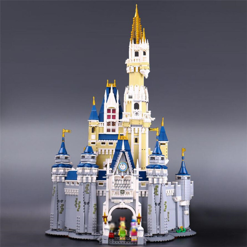 16008 Cinderella Princess Disneyes Castle City Set Building Blocks Bricks Kids DIY Toys Birthday Gift Compatible with 71040 image