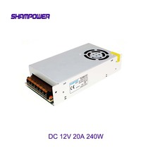 DC 12V S-Fan Power Supply 240W 20A AC 110V/220V To DC 12V Switch Power Supply Security Adapter Power Supply For LED Strip Light wholesale nzxt df1402512sedn 12v 1 68w 0 14a 140 140 25 14cm chassis power supply fan