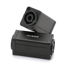 1Pcs extension speaker cable butt through audio cable Duble pass four-core professional plug aviation head A4MM for audio venues