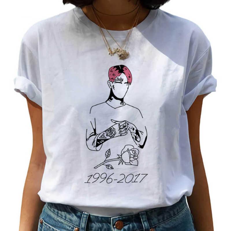 숙녀 여름 캐주얼 반팔 하라주쿠 힙합 T 셔츠 90s 그래픽 지옥 소년 Tshirt Street wear