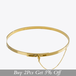 Image 2 - Enfashion سلسلة أمان المختنقون القلائد المعلقات الذهب قلادة ملونة الفولاذ المقاوم للصدأ المختنق قلادة للنساء مجوهرات كولير