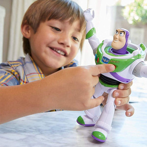 Image 5 - New Toy Story 4 Buzz Lightyear Can Walking Glowing English Songs Action Figure Model Children Collection Gifts