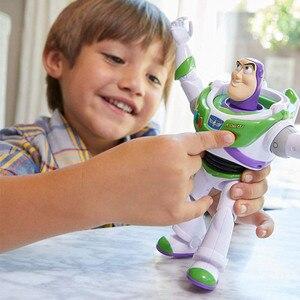 Image 5 - New Toy Story Buzz Lightyear 4 Pode Andar Brilhando Inglês Canções Action Figure Modelo Coleção Crianças Presentes
