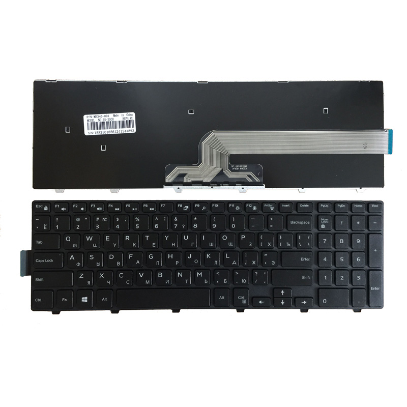 Russian Laptop Keyboard FOR DELL 0KPP2C SN8234 490.00H07.0L01 SG-63510-XUA 0JYP58 490.00H07.0D1D NSK-LR0SW 1D 01 Keyboard