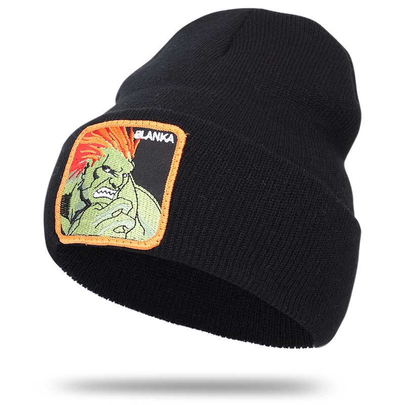 2020 New Rainforest Greenman Blank BLANKA Embroidery Knitted Hat