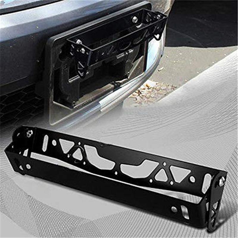 Universal Car Styling Aluminum License Plate Frame Adjustable Number Holder BLACK