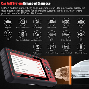 Image 2 - LAUNCH  CRP909 OBD2 Car Diagnostic Tool Wifi Full Systems Automotive Scanner ABS SAS DPF EPB   Oil Reset OBD 2 Scanner Launch
