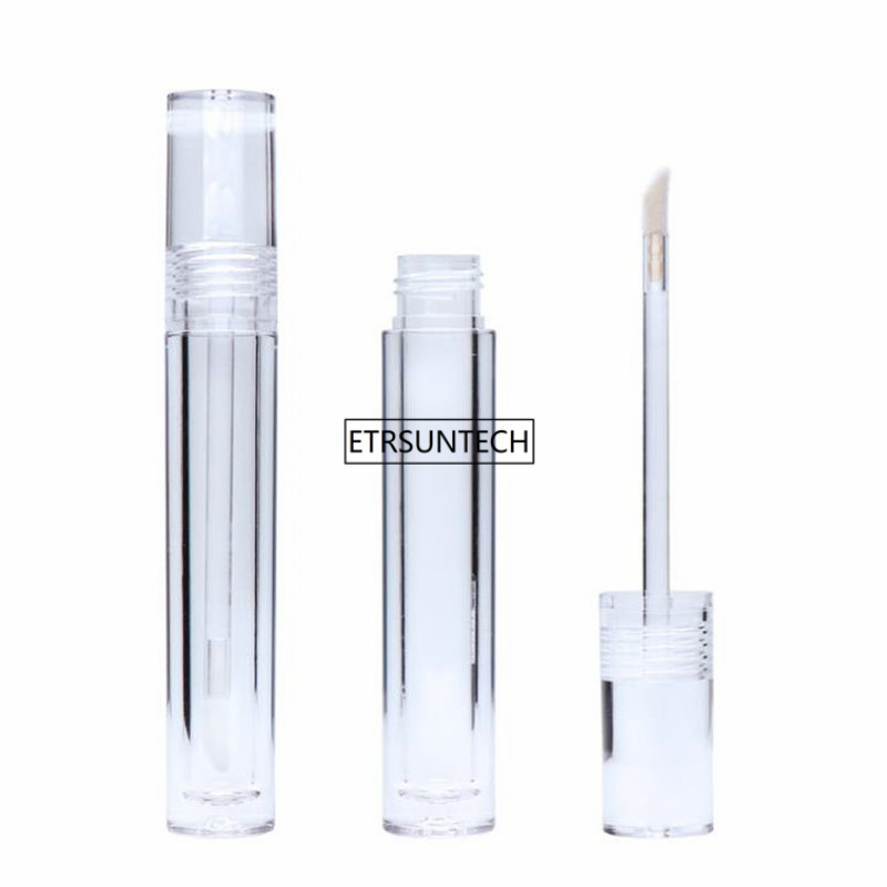 10/30/50pcs Empty 7.8ML Lipgloss Tubes Round Transparent Lip Gloss Tubes With Wand Empty Lip Gloss Tubes Clear F3864